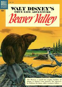 Cover Thumbnail for Four Color (Dell, 1942 series) #625 - Walt Disney's Beaver Valley