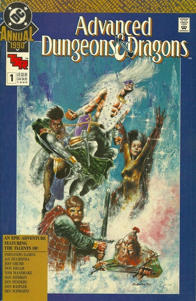Cover for Advanced Dungeons & Dragons Annual Comic Book (DC, 1990 series) #1