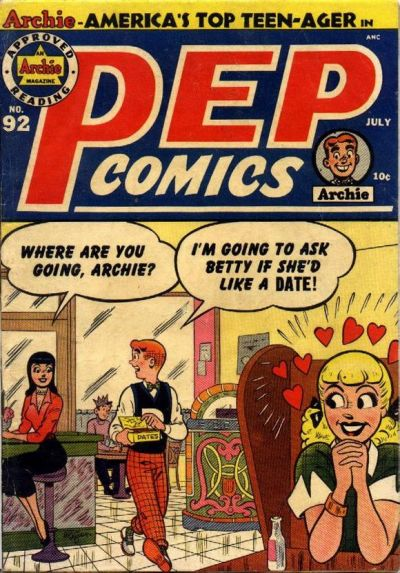 Cover for Pep Comics (Archie, 1940 series) #92