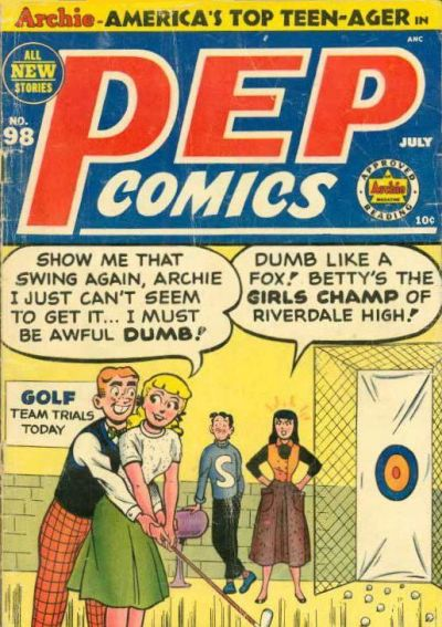Cover for Pep Comics (Archie, 1940 series) #98