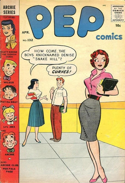 Cover for Pep Comics (Archie, 1940 series) #132