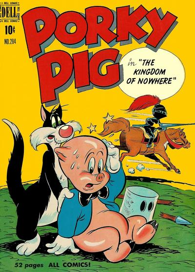 Cover for Four Color (Dell, 1942 series) #284 - Porky Pig in The Kingdom of Nowhere