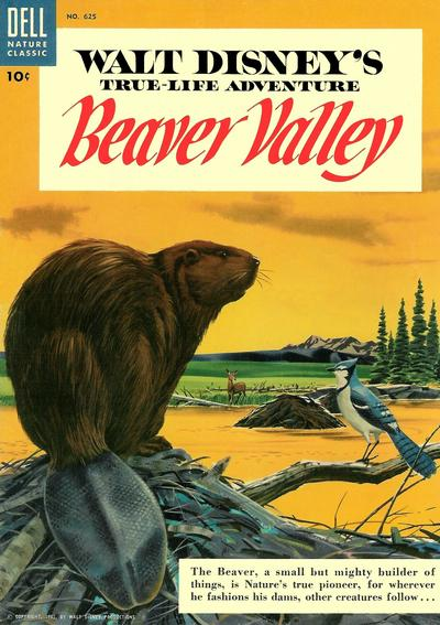 Cover for Four Color (Dell, 1942 series) #625 - Walt Disney's Beaver Valley