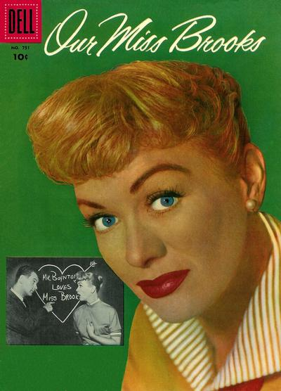 Cover for Four Color (Dell, 1942 series) #751 - Our Miss Brooks