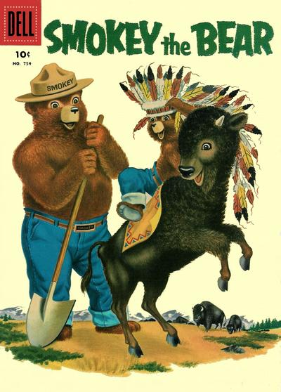 Cover for Four Color (Dell, 1942 series) #754 - Smokey the Bear