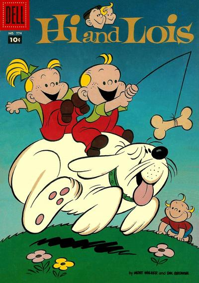 Cover for Four Color (Dell, 1942 series) #774 - Hi and Lois