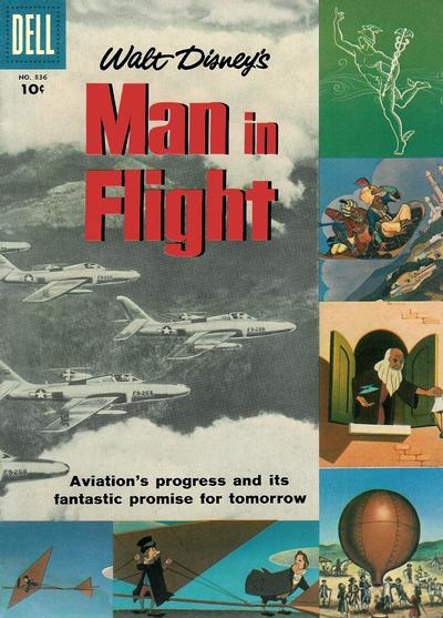 Cover for Four Color (Dell, 1942 series) #836 - Walt Disney's Man in Flight