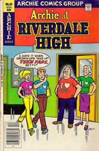 Cover for Archie at Riverdale High (Archie, 1972 series) #83