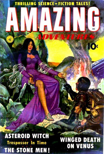 Cover for Amazing Adventures (Ziff-Davis, 1950 series) #1