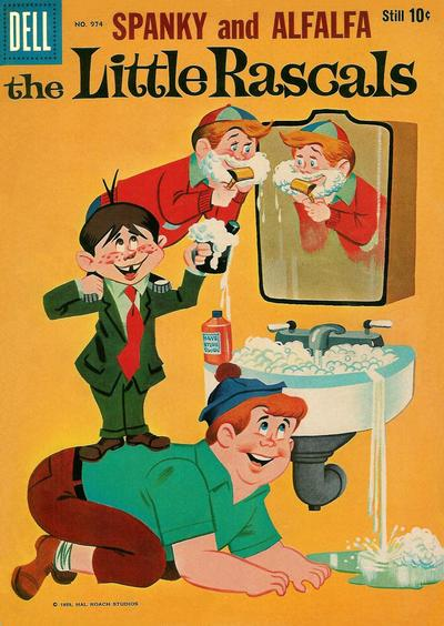Cover for Four Color (Dell, 1942 series) #974 - The Little Rascals