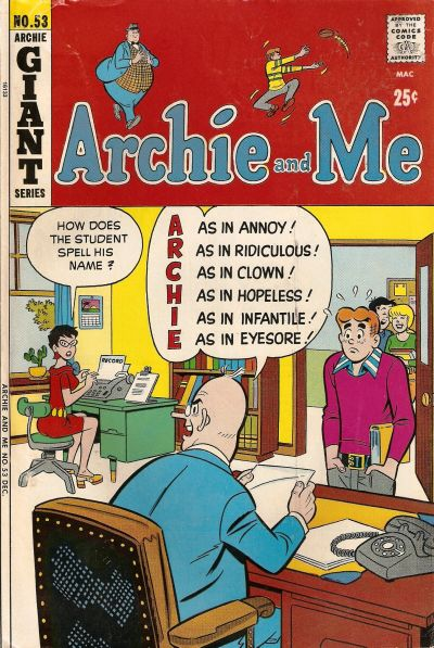 Cover for Archie and Me (Archie, 1964 series) #53