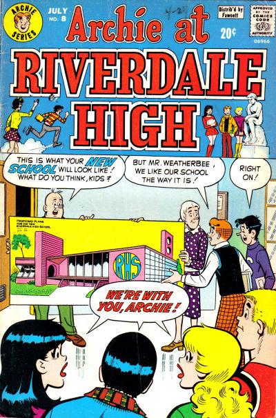 Cover for Archie at Riverdale High (1972 series) #8