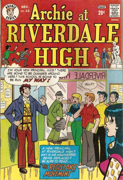 Cover for Archie at Riverdale High (Archie, 1972 series) #12