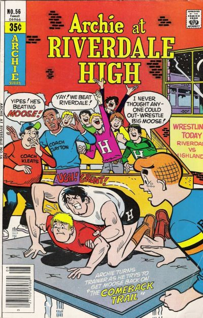 Cover for Archie at Riverdale High (1972 series) #56