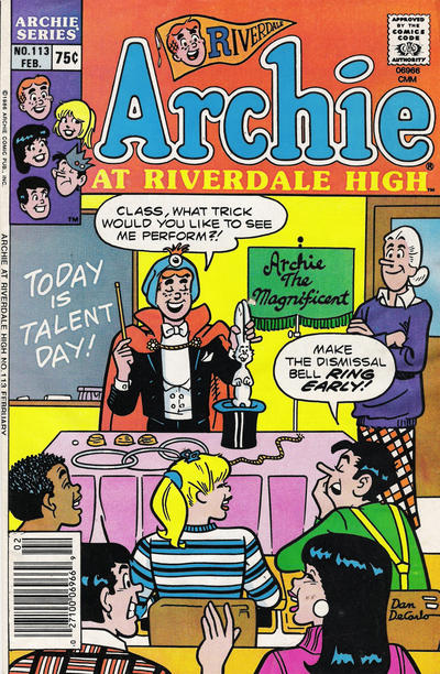 Cover for Archie at Riverdale High (Archie, 1972 series) #113