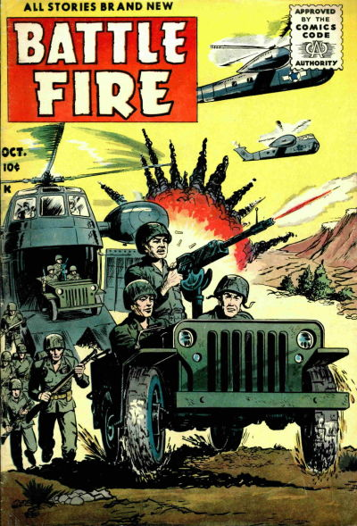 Cover for Battle Fire (Stanley Morse, 1955 series) #4