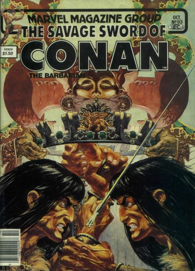 Cover for The Savage Sword of Conan (Marvel, 1974 series) #93