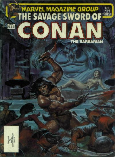 Cover for The Savage Sword of Conan (Marvel, 1974 series) #95