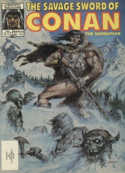 Cover for The Savage Sword of Conan (Marvel, 1974 series) #110