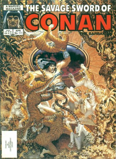 Cover for The Savage Sword of Conan (Marvel, 1974 series) #111