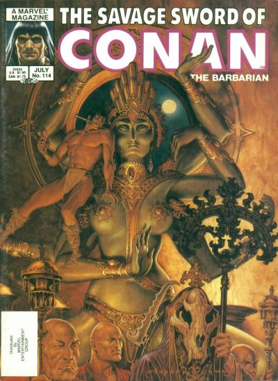 Cover for The Savage Sword of Conan (Marvel, 1974 series) #114