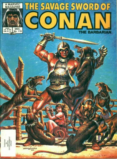 Cover for The Savage Sword of Conan (Marvel, 1974 series) #119