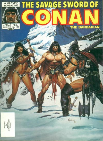 Cover for The Savage Sword of Conan (1974 series) #121