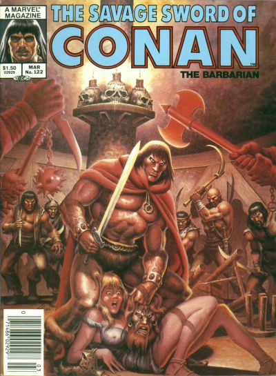Cover for The Savage Sword of Conan (1974 series) #122