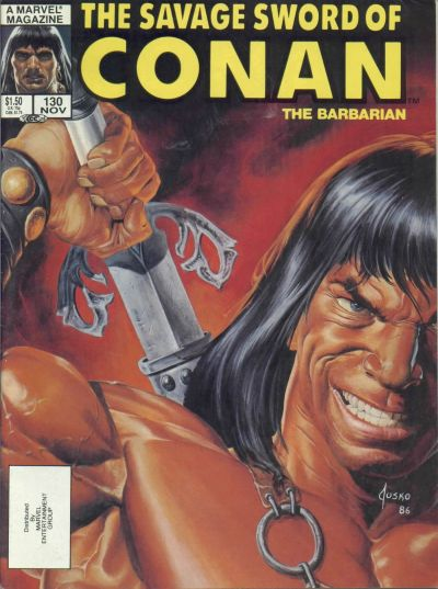 Cover for The Savage Sword of Conan (Marvel, 1974 series) #130