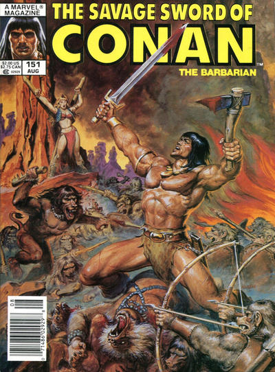 Cover for The Savage Sword of Conan (Marvel, 1974 series) #151