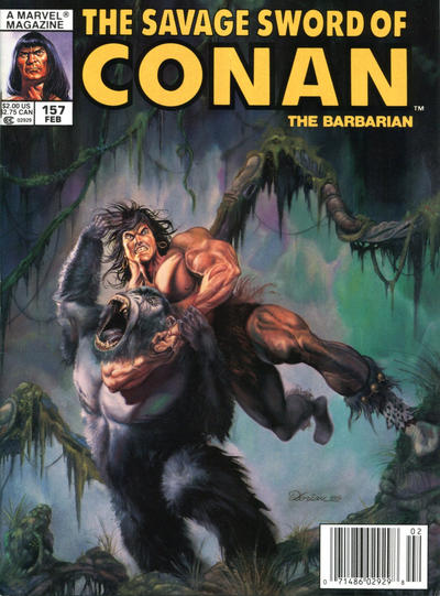 Cover for The Savage Sword of Conan (Marvel, 1974 series) #157
