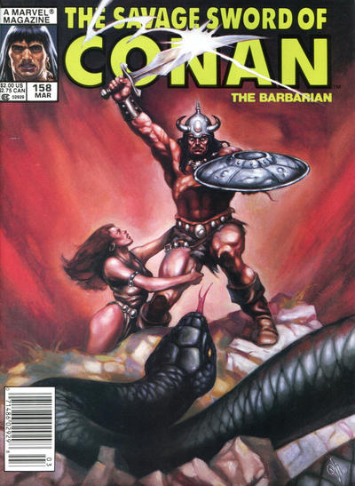 Cover for The Savage Sword of Conan (Marvel, 1974 series) #158