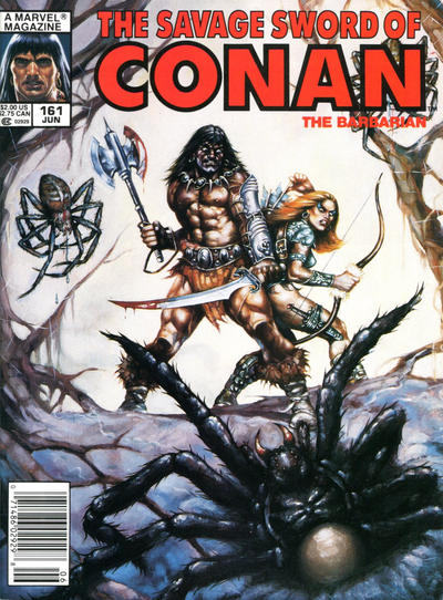 Cover for The Savage Sword of Conan (1974 series) #161