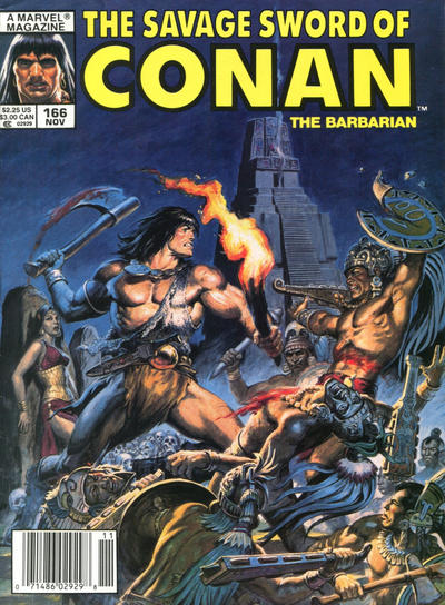 Cover for The Savage Sword of Conan (Marvel, 1974 series) #166