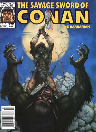 Cover for The Savage Sword of Conan (Marvel, 1974 series) #172