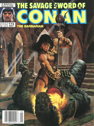 Cover for The Savage Sword of Conan (Marvel, 1974 series) #173