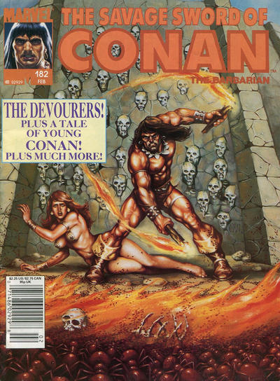 Cover for The Savage Sword of Conan (1974 series) #182