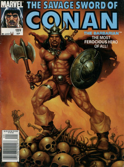 Cover for The Savage Sword of Conan (1974 series) #189