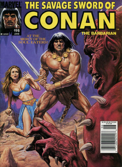 Cover for The Savage Sword of Conan (Marvel, 1974 series) #198