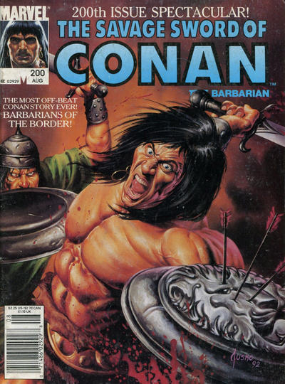 Cover for The Savage Sword of Conan (Marvel, 1974 series) #200