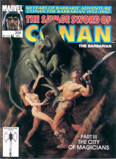Cover for The Savage Sword of Conan (Marvel, 1974 series) #204