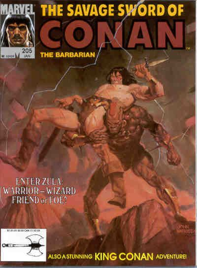 Cover for The Savage Sword of Conan (Marvel, 1974 series) #205