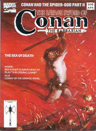 Cover for The Savage Sword of Conan (Marvel, 1974 series) #208