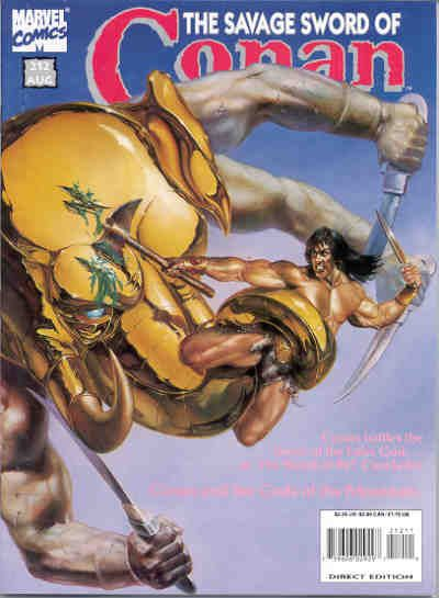 Cover for The Savage Sword of Conan (Marvel, 1974 series) #212