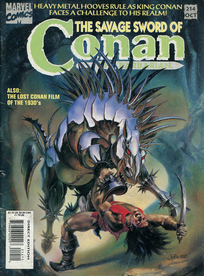 Cover for The Savage Sword of Conan (1974 series) #214