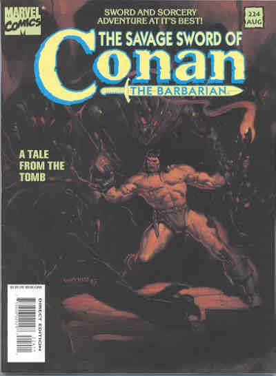 Cover for The Savage Sword of Conan (Marvel, 1974 series) #224
