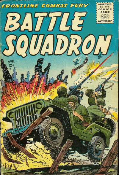 Cover for Battle Squadron (Stanley Morse, 1955 series) #1