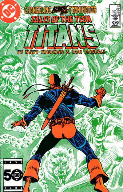 Cover for Tales of the Teen Titans (DC, 1984 series) #55 [Direct Edition]