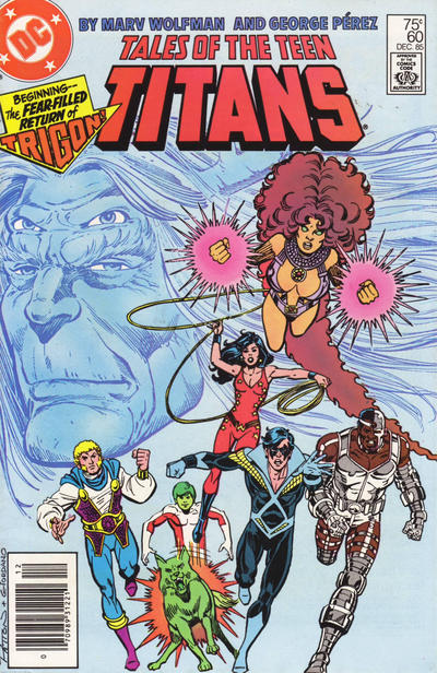 Cover for Tales of the Teen Titans (DC, 1984 series) #60