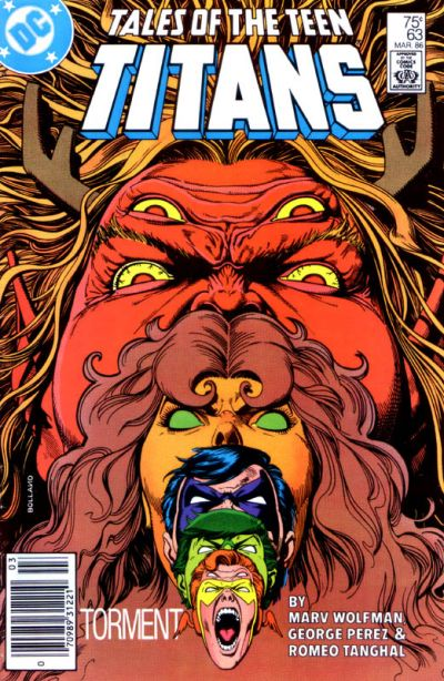 Cover for Tales of the Teen Titans (DC, 1984 series) #63